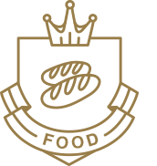 Award heading emblem food